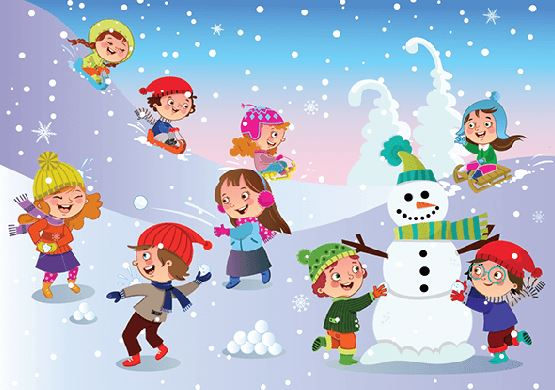 Cartoon snow fun