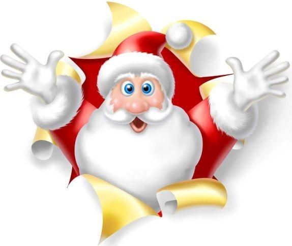 Santa open arms
